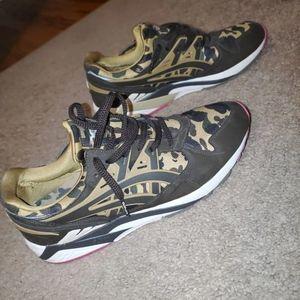 Bape Asics Gel Kayano Yellow Camo Sneakers